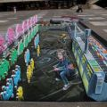 Die besten Bilder in der Kategorie strassenmalerei: Fantastisches 3D Space-invaders Street Art