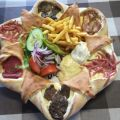 Die besten Bilder in der Kategorie Vote: Breakfast, delicious, unhealthy, cheese, pizza, meat, french fries