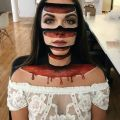 Die besten Bilder in der Kategorie bodypainting: Facepainting, slices, blood, horror, optical illusion, 3D