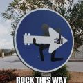 Die besten Bilder in der Kategorie Vote: Sign, arrow, guitar, rock, funny