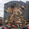 Die besten Bilder in der Kategorie graffiti: Graffiti, mushrooms, house wall, photo-realistic