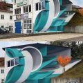 Die besten Bilder in der Kategorie graffiti: House, optical illusion, window, 3D, illusion