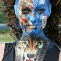 Wolf Bodypainting