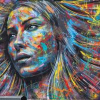 Colorful Spraypaint Portraits of David Walker