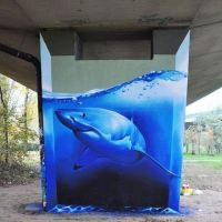 Big White Shark Grafitti