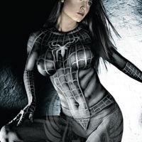 Black Spidergirl Sexy Bodypainting