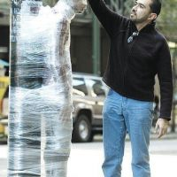Bad Day for some Persons  - Cling Film Fun