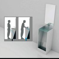 urinal with basin