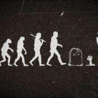 real, Evolution, Ape, Zombie