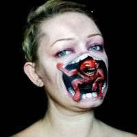Bodypainting, Facial, Monster