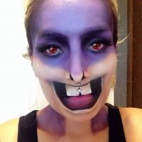 Disguise, make-up, optical illusion, hare teeth, facepainting
