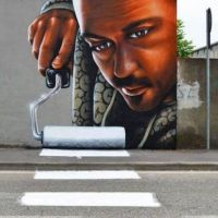 Graffiti, crosswalk, paint, creative