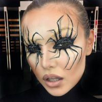 Make-up, 3D, Facepainting, Spider, Halloween, Carnival